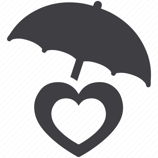 care, heart, insurance, protect, protection, safety, umbrella icon