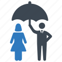 life insurance, protection, umbrella icon