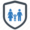 family insurance, life insurance, protection, safe icon