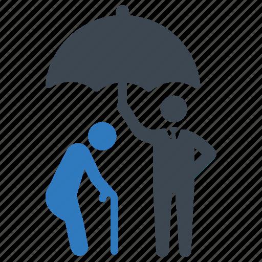 insurance, life, oldman icon