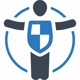 life insurance, life protection, safe, shield icon