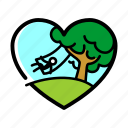 swing, tree, lifestyle, heart, love, nature, plant