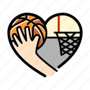basketball, sport, lifestyle, heart, love, game