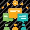 communication, community, effective, leadership, life skill, partnership, skills icon