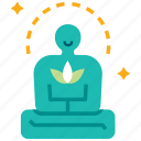 balance, calm, life, meditation, peacful, relaxation, relief icon
