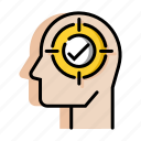 business, concentrate, entrepreneur, executive, focus, idea, strategy icon