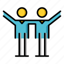 colleagues, friendship, partner, relationship, sociable, team icon