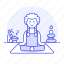 1, aromatherapy, balance, candle, female, lifestyle, meditation, relaxation, spa, stone, zen icon