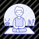 relaxation, candle, lifestyle, aromatherapy, yoga, spa, zen, male, balance, meditation