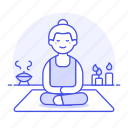 2, aromatherapy, balance, candle, female, lifestyle, meditation, relaxation, spa, yoga, zen icon