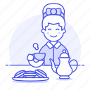 1, biscuits, cookies, cup, english, female, lifestyle, party, tea, teapot, time icon
