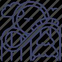 roller, coaster, amusement, park icon