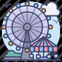 amusement, park, ferris, wheel icon