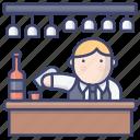 bar, bartender, booze, pub icon