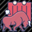 bull, bullfight, bullfighting, spain icon