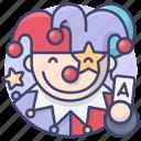 clown, party, joker, circus icon