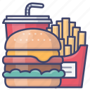 fast, food, burger, chips icon