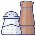 salt, pepper, shaker, seasoning icon