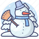 snowman, winter, landscape, holiday