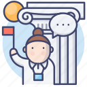 tour, guide, travel, agent icon