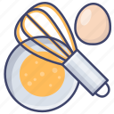 whisk, mixer, beater, egg icon