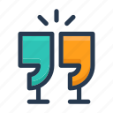 chat, drink, hangout icon