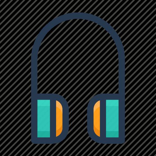 earphone, headphone, music icon