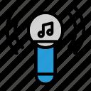 karoke, lifestye, mic, sound icon