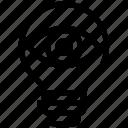 bulb, energy, eye, idea, light, light bulb, view icon