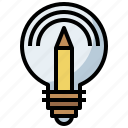 bulb, business, creative, creativity, education, electronics, inspiration, light, lightbulb, lighting icon