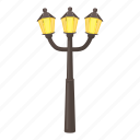 lantern, light, retro, source, street pillar icon