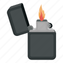 flame, gasoline, light, lighter, source icon