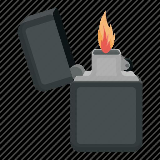 flame, gasoline, light, lighter, source icon