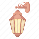 lantern, light, retro, source, street, wall icon