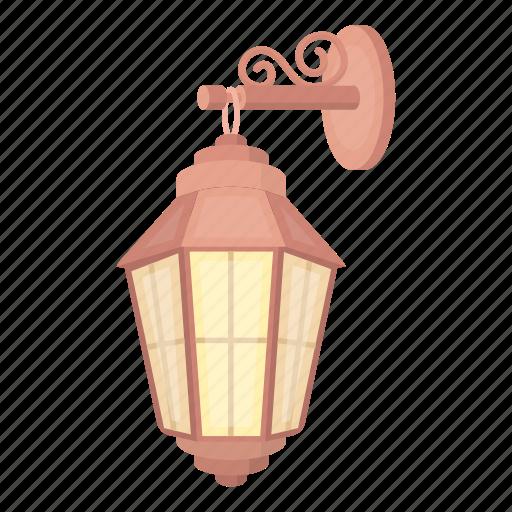 lantern, light, retro, source, street, wall icon