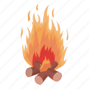 fire, firewood, flame, light, log, source icon