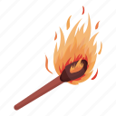 fire, flame, light, match, source icon