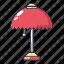 cartoon, furniture, lamp, light, night, object, stand