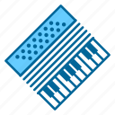 accordion, band, instrument, instruments, music, notes, song icon