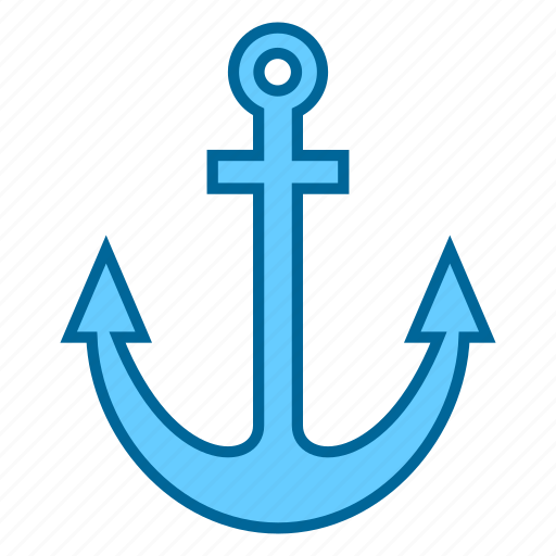 anchor, boat, navy, object, ocean, sea, ship icon