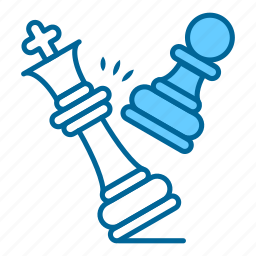 checkmate, chess, game, game over, king, pawn, strategy icon