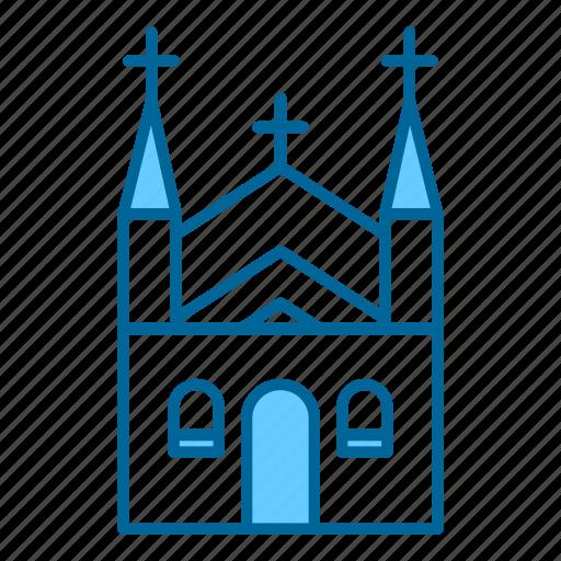 Church, catholic, christian, cross, holy, pray, religion icon - Download on Iconfinder