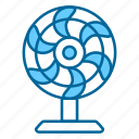 fan, air, comfort, heating, relief, summer, wind icon