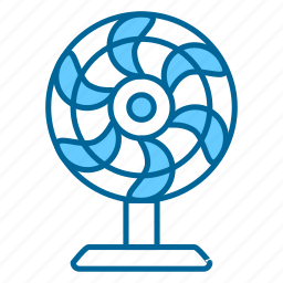 air, comfort, fan, heating, relief, summer, wind icon