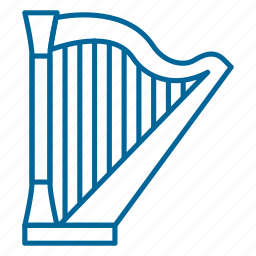 band, classical music, harp, instrument, music, song, strings icon