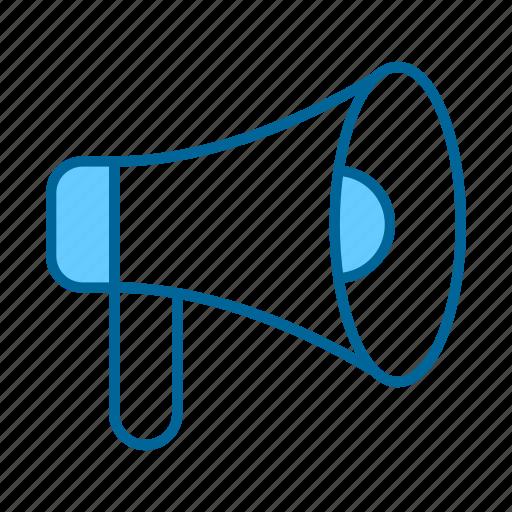 audio, communication, loud, megaphone, message, sound, speaker icon