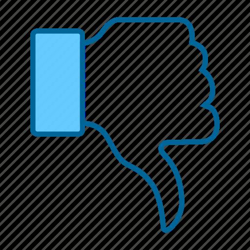 dislike, facebook, like, reaction, social network, thumbs, thumbs down icon
