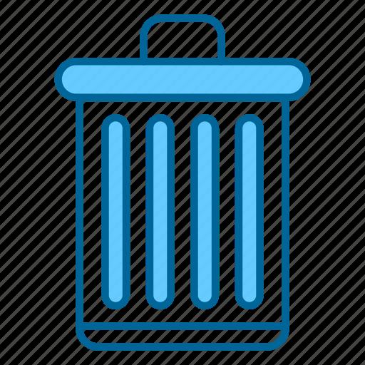 bin, delete, garbage, trash, trash bin, trash can, waste icon