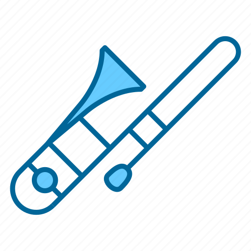 instrument, instruments, music, song, trombone, wind instrument, woodwind icon