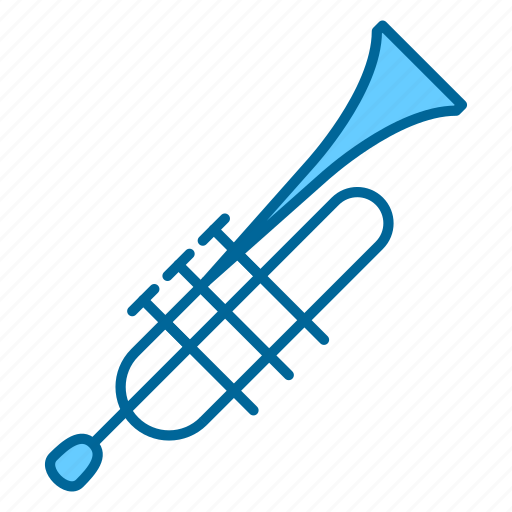 instrument, instruments, music, song, trumpet, wind instrument, woodwind icon